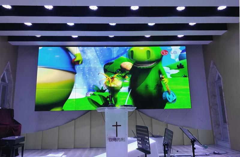 高清电视墙 4k 超窄边会议室商店酒吧餐厅监控 4mm 寸 50 液晶拼接屏