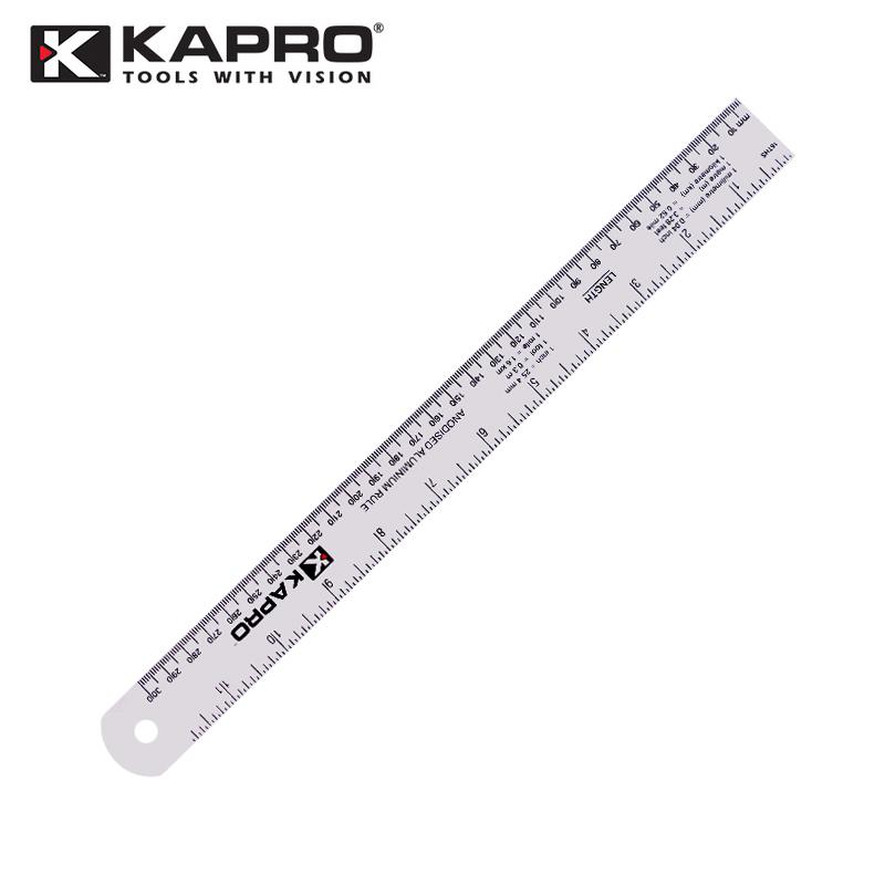 以色列KAPRO开普路306铝合金直尺30/40/60CM 加厚公英制刻度尺子