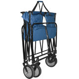 Outdoor camping picnic barbecue carts fishing rod cart portable folding camp trailer four car