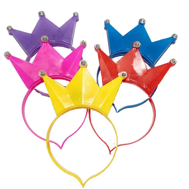兔子耳朵发光头箍批发皇冠荧光头饰带灯发箍演唱会道具定制发夹