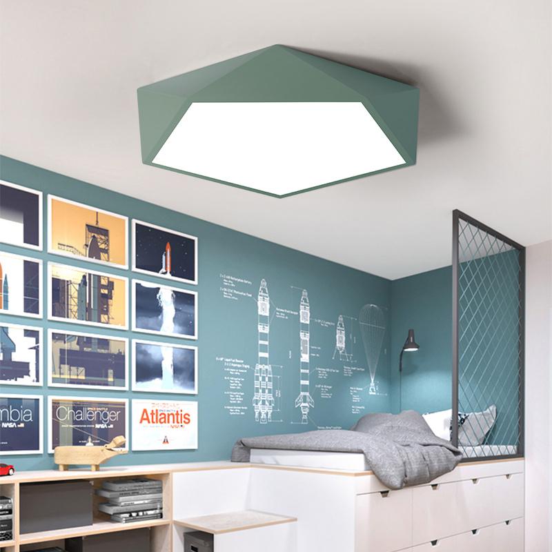 圆形吸顶灯简约现代地中海温馨卧室儿童房灯饰北欧马卡龙灯具 led