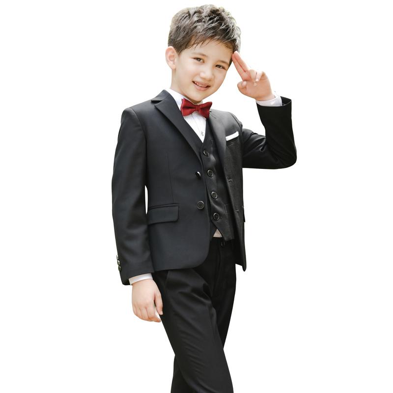 男童西装套装儿童钢琴演出服韩版花童礼服中大童校服西服宝宝外套