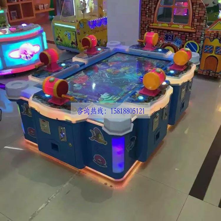 新款热销海洋钓鱼6人大型电玩城投币仿真六人模拟钓鱼游戏机设备