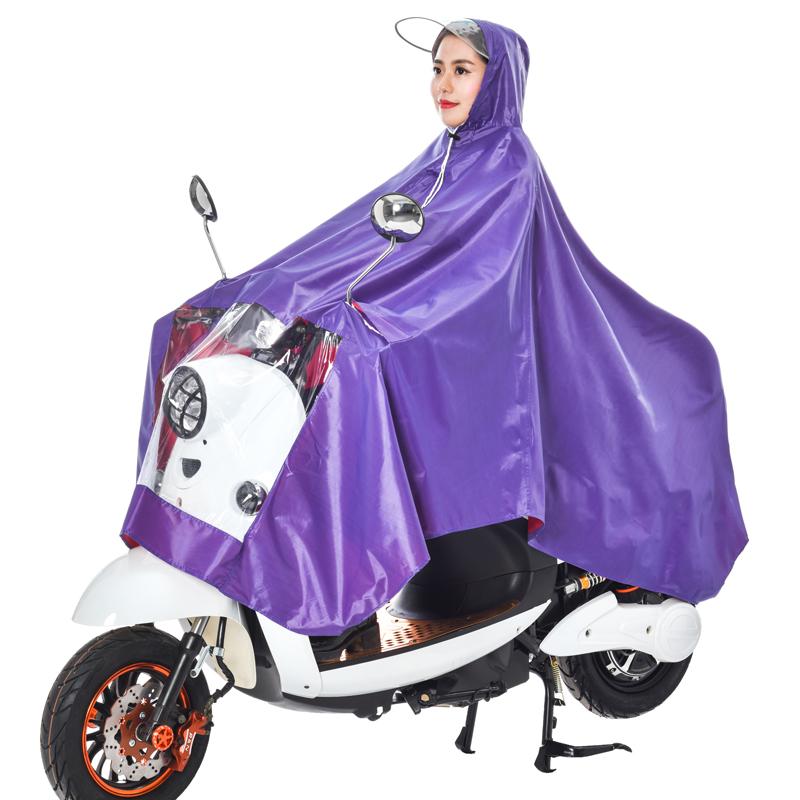 双清雨衣电动车单人摩托车男女士加大加厚雨衣透明大帽檐时尚雨披