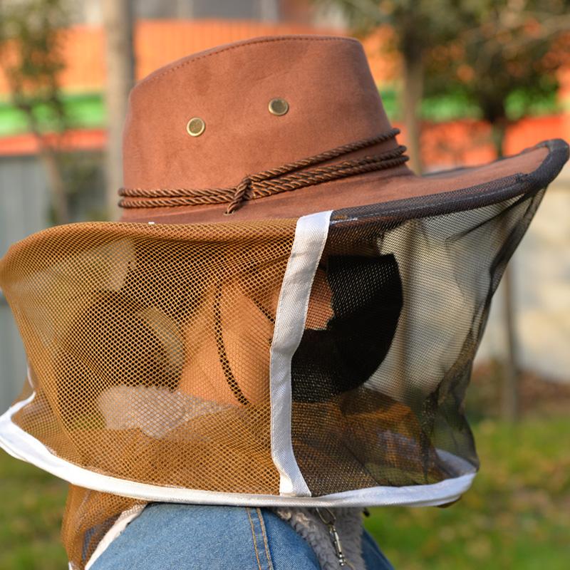 尼龙防蜂帽牛仔蜂帽防护蜜蜂加厚透气舒适养蜂防蜜蜂帽子养蜂蜂具