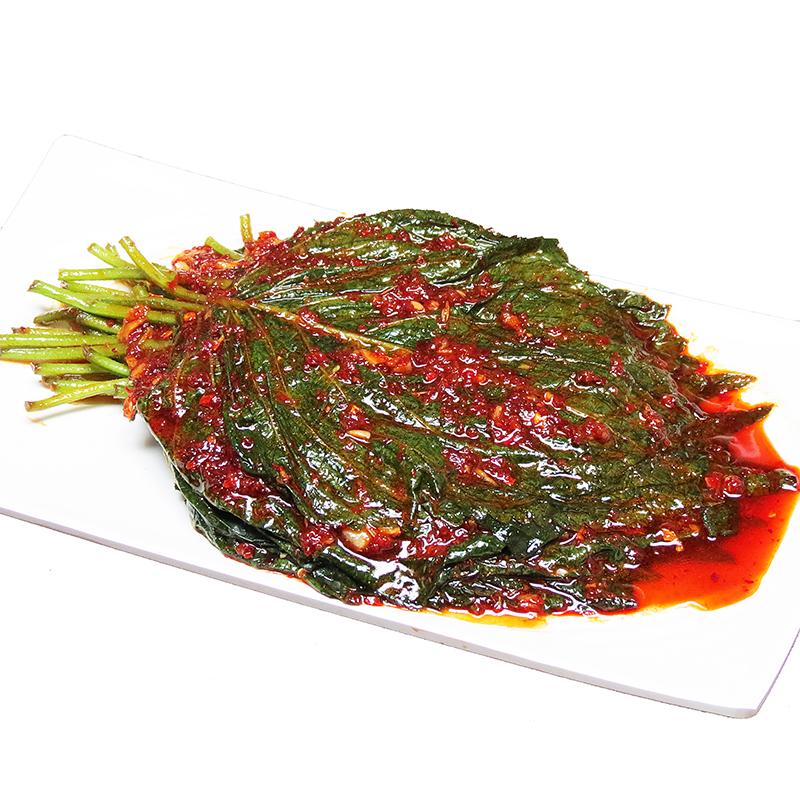 韩国苏子叶泡菜朝鲜族新鲜紫苏叶咸菜纯天然延边250g下饭菜
