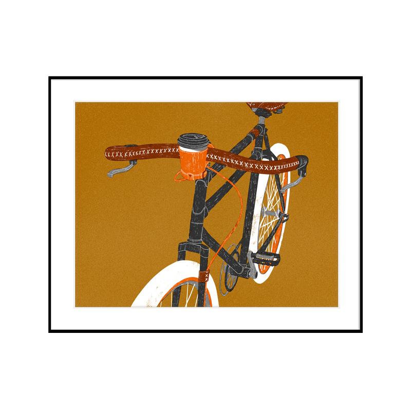 印物所出品 手印版畫 「自行車」系列  絲網版畫