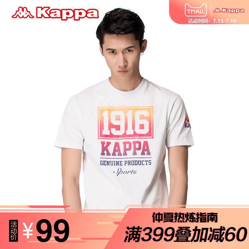 Kappa卡帕男款T恤短袖圓領圖案衫情侶款半袖衫春夏 K0612TD25