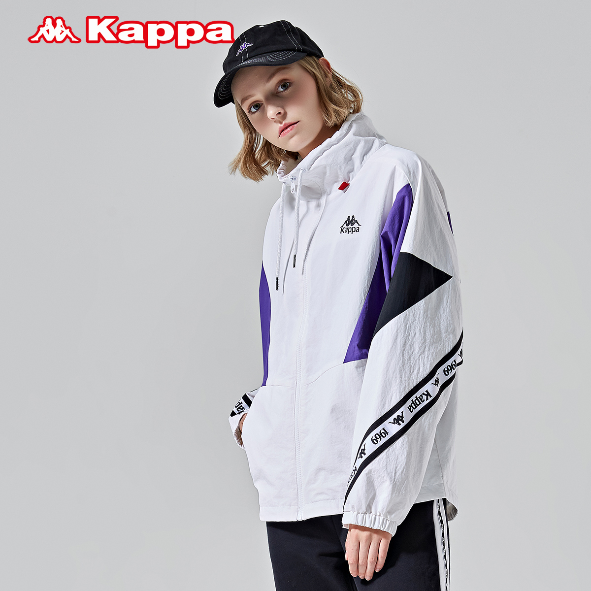 K0962FJ06D 新款 2019 女款防风梭织外套休闲长袖开衫 卡帕 Kappa
