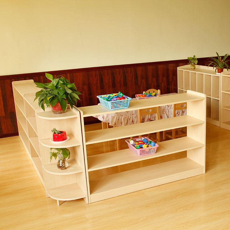 幼儿园柜子儿童玩具收纳书架鞋柜储物柜组合区角书包柜蒙氏教具柜