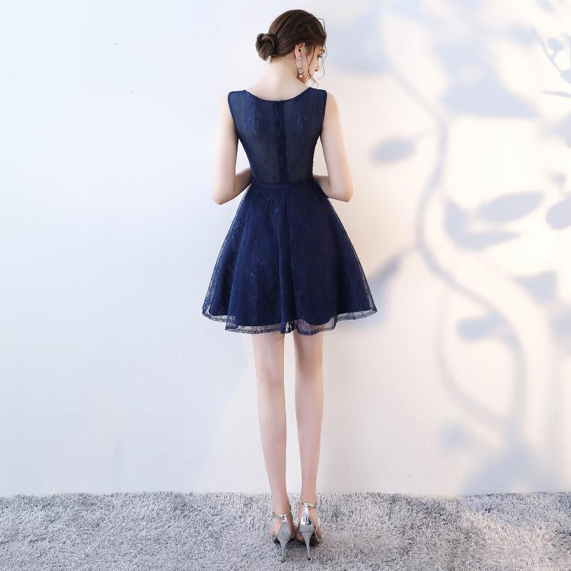 小晚礼服裙女短款2019新款秋季宴会主持人聚会生日派对连衣裙显瘦