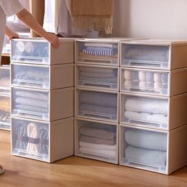 收纳箱抽屉式衣服衣橱塑料家用储物柜子内衣衣物整理箱衣柜收纳盒