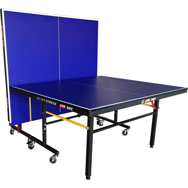 红双喜乒乓球桌家用可折叠带轮移动式乒乓球台标准室内兵乓球案子