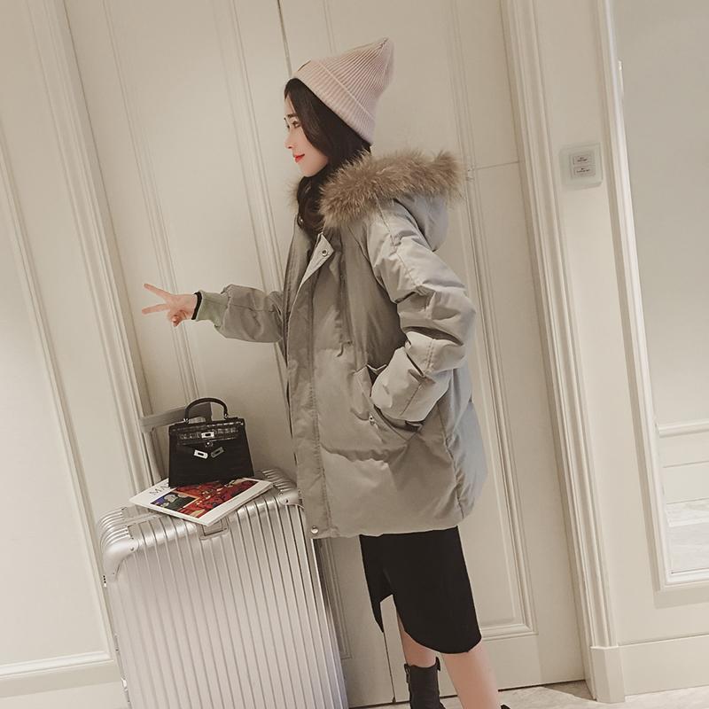 棉衣外套女冬装2018新款韩版宽松中长款加厚ins面包服羽绒棉袄潮