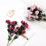 ins wind simulation foam roses Food Life staged decorative flowers photographed shooting photography background props