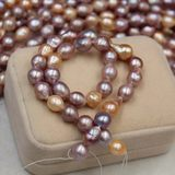 Eddie natural freshwater pearl necklace baroque pearl drop shaped mixed color DIY loose beads