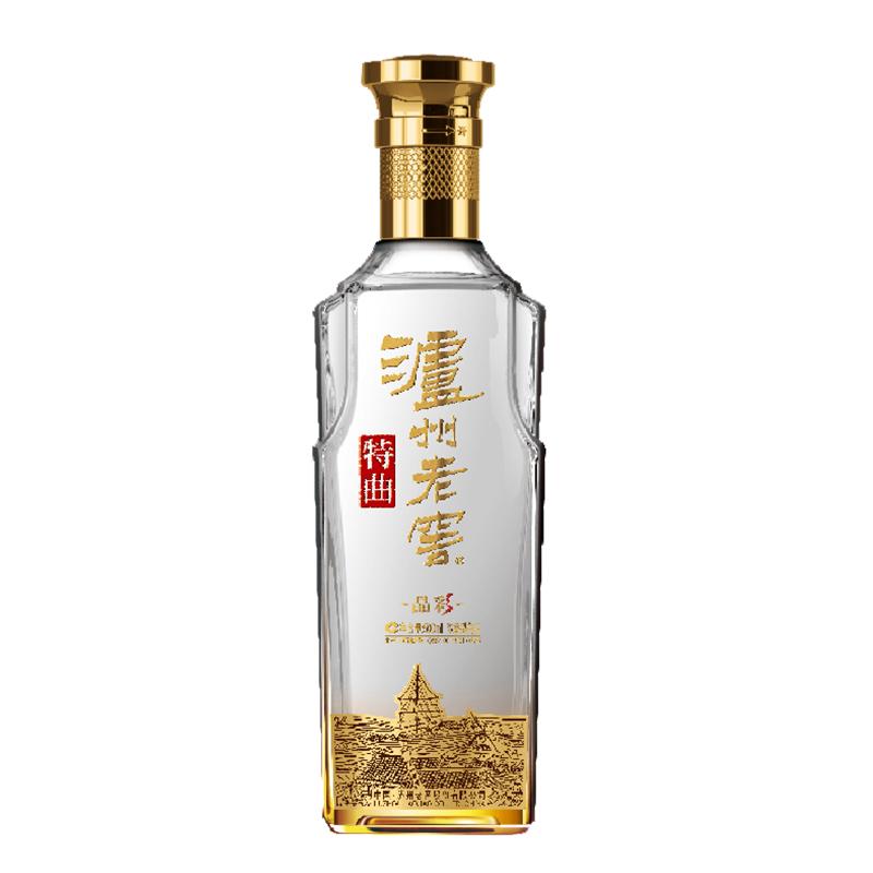 浓香型高度白酒 500ml 晶彩 特曲酒 度 52 泸州老窖 度 晶彩 度 52  泸州老窖