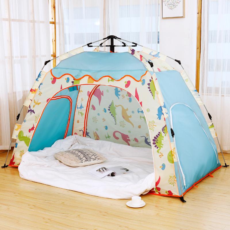 全自动室内帐篷保暖家用床上睡觉单双人儿童大人保温帐篷冬季账蓬