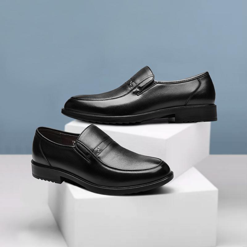 红蜻蜓男鞋 春季新品男士真皮皮鞋商务休闲鞋正品舒适耐磨爸爸鞋