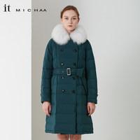 itmichaa 2018冬季新款狐狸毛领白鸭绒显瘦高腰羽绒服 ITIBWPD90 (¥2396)