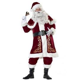 分码加大厂家供应圣诞老人服装成人男女高贵加厚情侣圣诞树服装