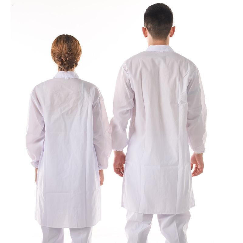 夏季长袖实验室学生白大褂短袖薄款男女工作服半袖工厂车间食品服