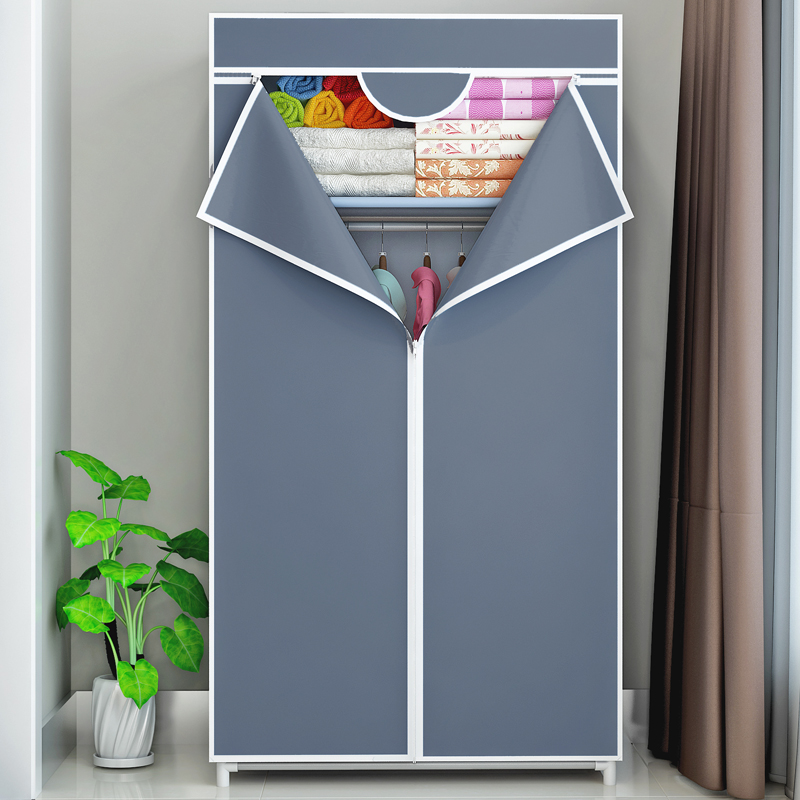 布衣櫃拉鍊全封閉經濟型學生用宿舍組裝衣櫥新款單人布藝簡易衣櫃