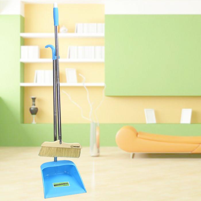扫把软毛扫帚纯猪鬃毛扫把簸箕套装组合地板扫帚扫把畚簸套装实木