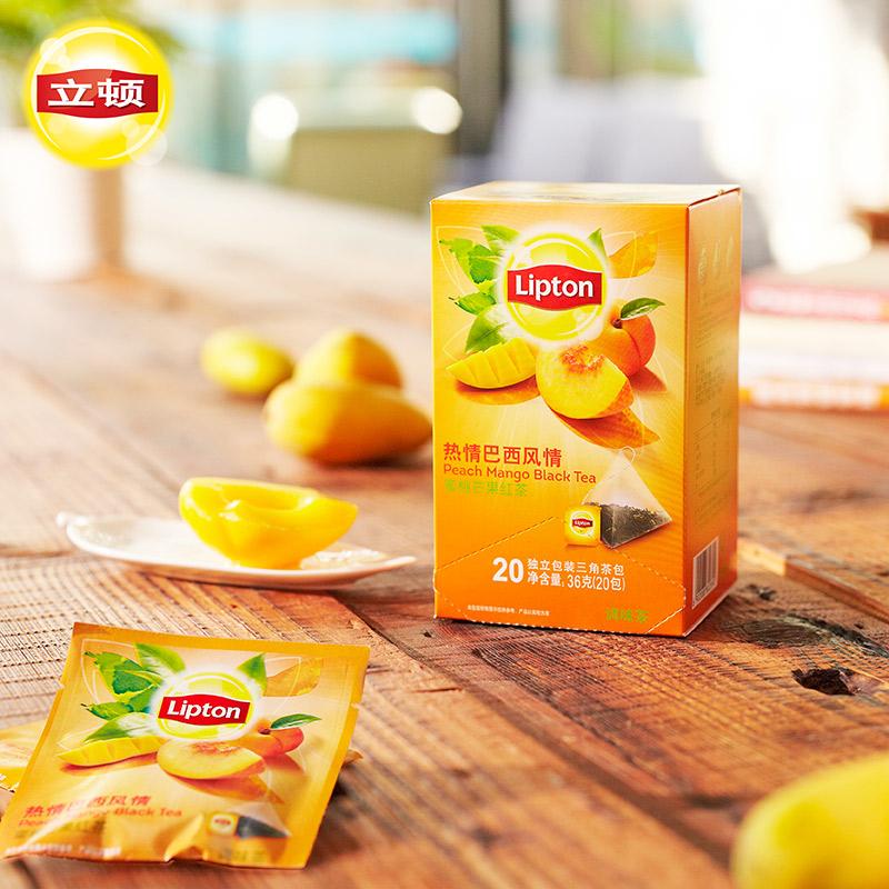 蜜桃芒果三角茶包花果茶鲜果花茶茶叶 柠檬 立顿水果茶莓果 Lipton