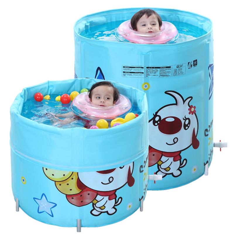 诺澳游泳桶婴儿游泳池家用保温宝宝新生儿大号合金支架幼儿童小孩
