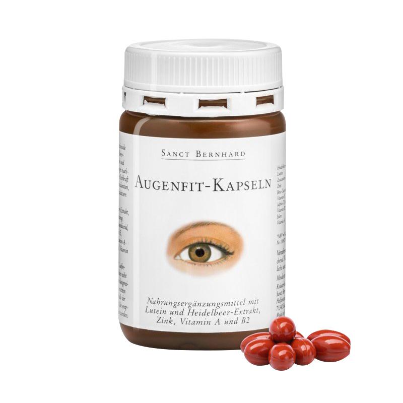 德国蓝莓叶黄素Sanct Bernhard护眼胶囊专利儿童中老年近视保健品