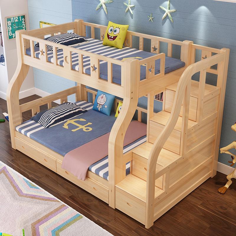 上下铺木床双层床大人实木儿童床上下床双人床高低床母子床子母床
