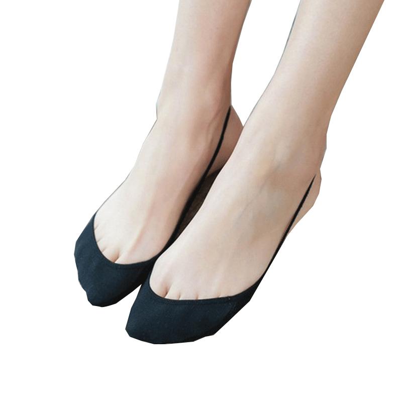 纯棉浅口女袜子船袜 夏季薄款前脚掌半截隐形袜子 高跟鞋船袜吊带