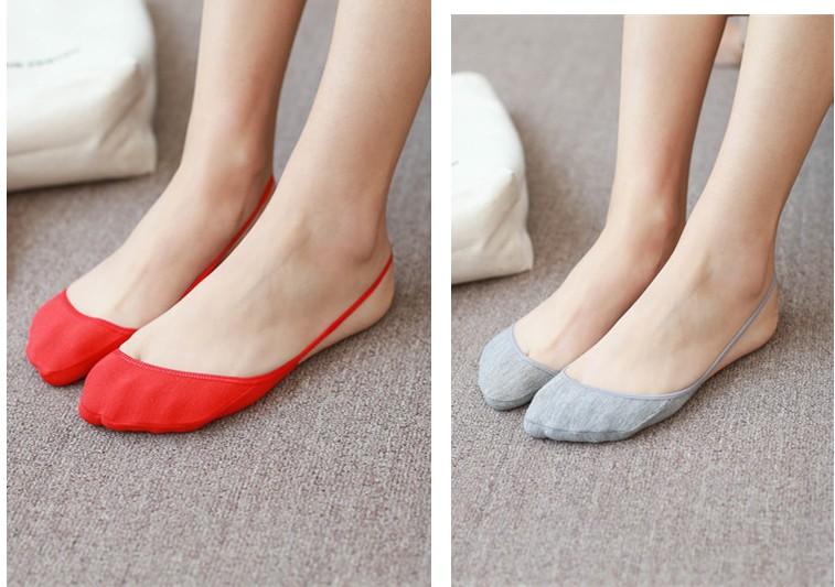 纯棉浅口女袜子船袜 高跟鞋船袜吊带  夏季薄款前脚掌半截隐形袜子