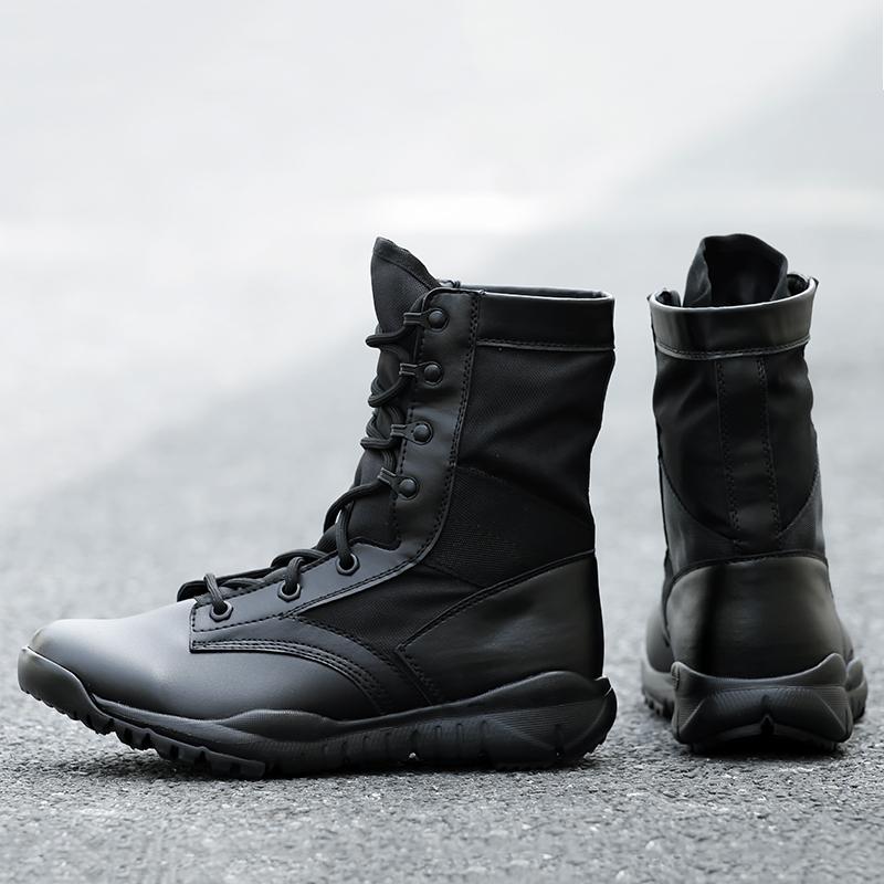 夏季超轻作战靴特种兵军靴男高帮战术靴透气减震军迷陆战靴作训靴