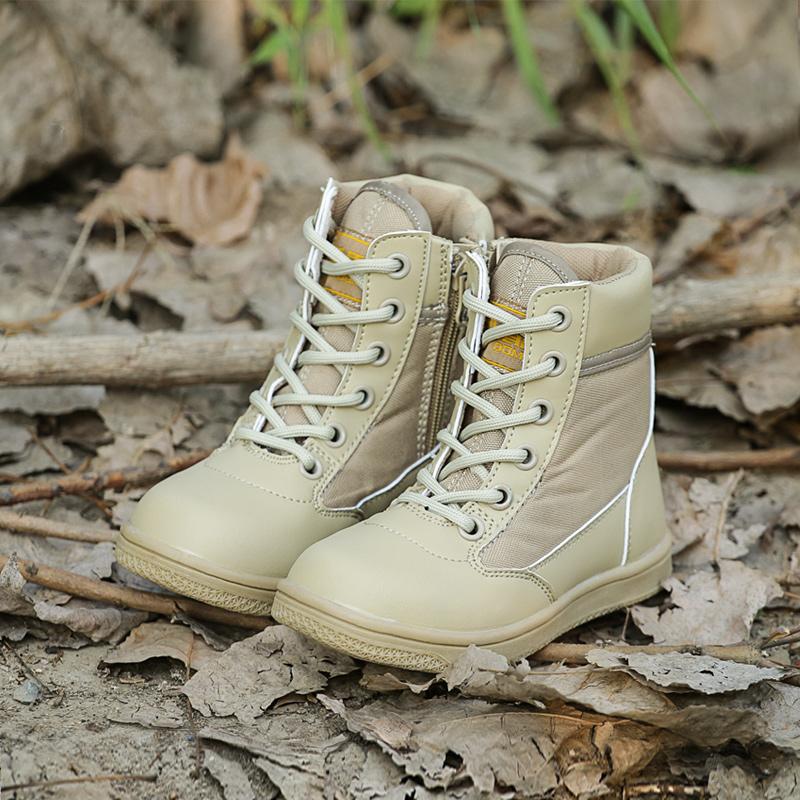 夏季儿童军靴男特种兵作战靴童鞋女亲子鞋中大童夏令营战术靴军鞋