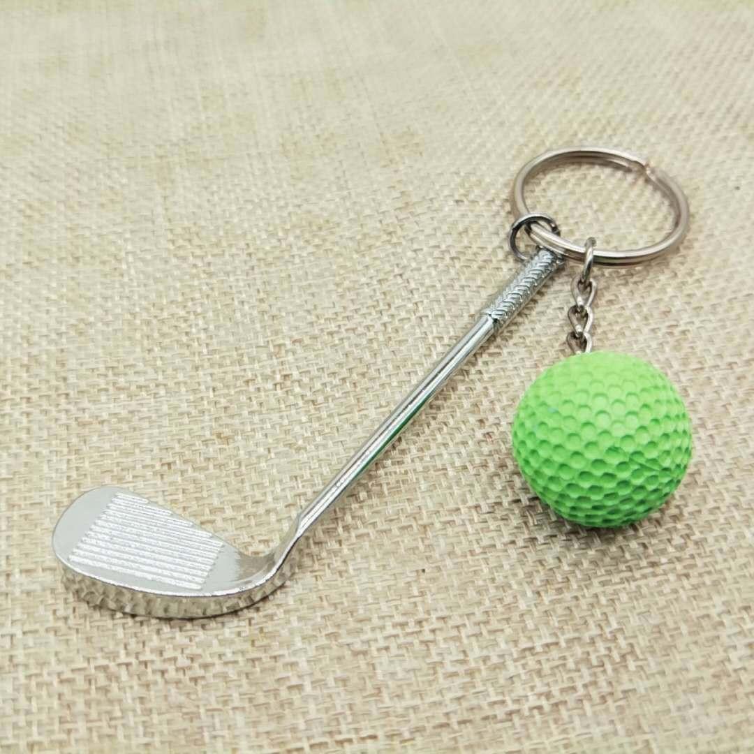 创意高尔夫球钥匙扣包包挂件高尔夫体育活动用品球类钥匙扣