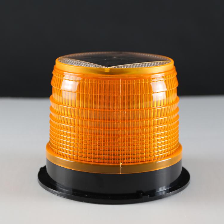 太阳能警示灯 磁铁红蓝爆闪灯车载吸顶灯夜间频闪LED信号灯路障灯