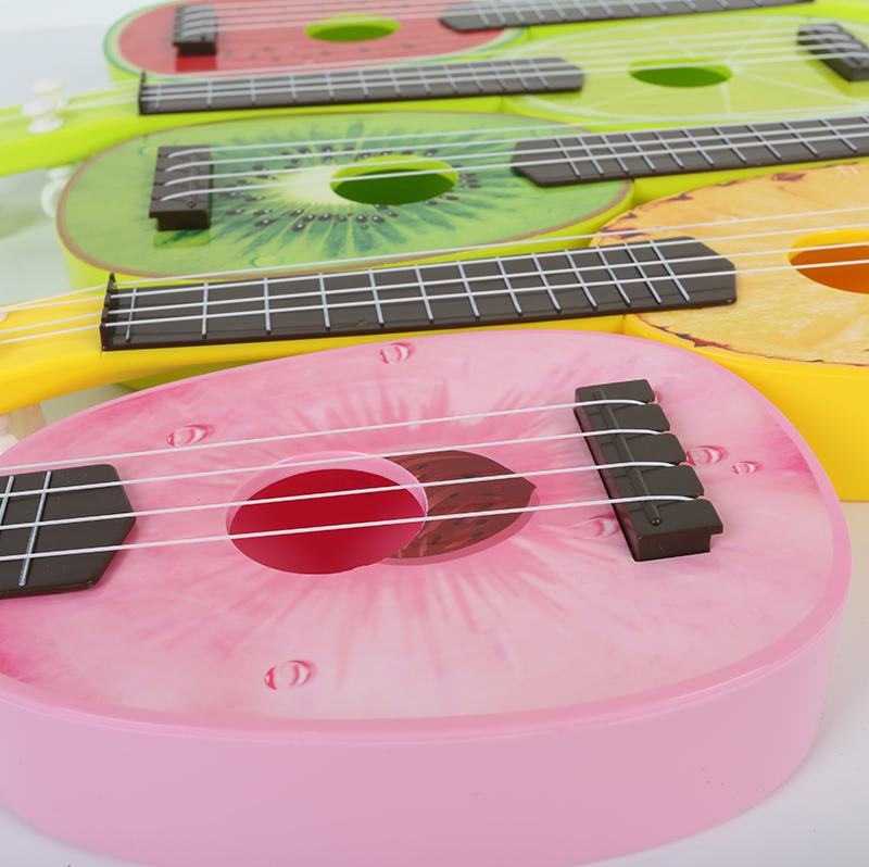 儿童彩色卡通水果乌尤克里里夏威夷仿真小吉他可弹奏乐器吉它玩具