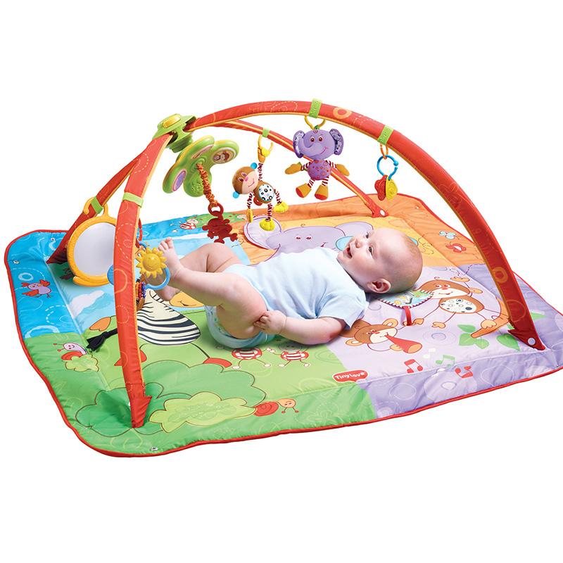 tinylove婴儿游戏毯健身架0-1岁宝宝音乐爬行垫婴幼儿脚踏玩具毯