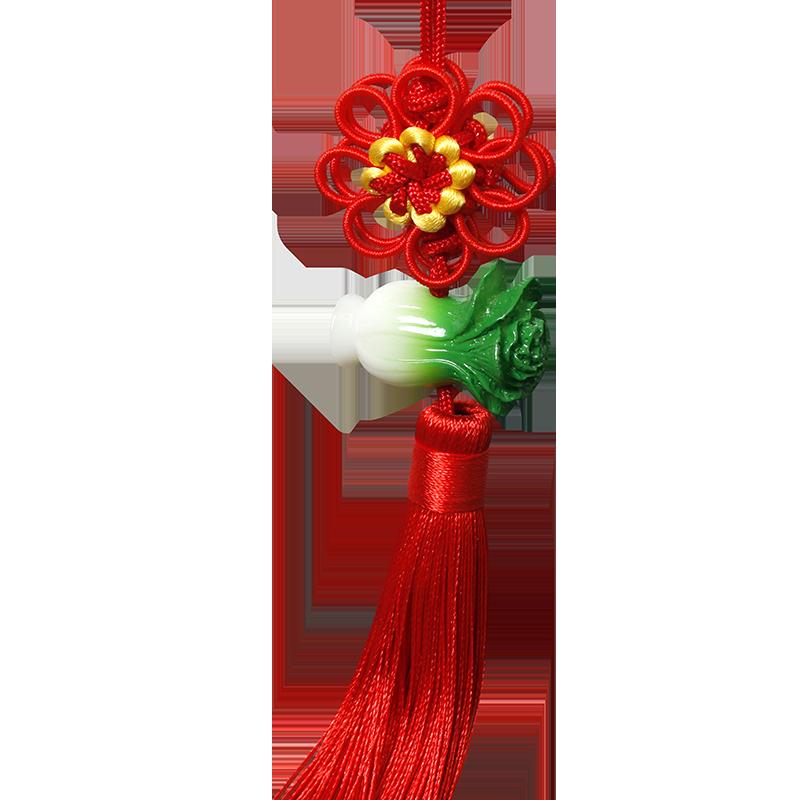 手工编织菊花结中国结挂件小号玉佩门把手葫芦丝装饰蓝色白财平安