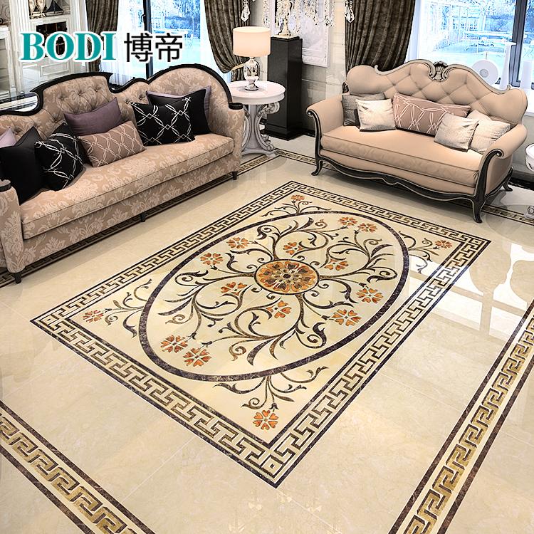 博帝客厅瓷砖拼花地板砖拼图 欧式3D地板砖拼图瓷砖拼花玄关走廊
