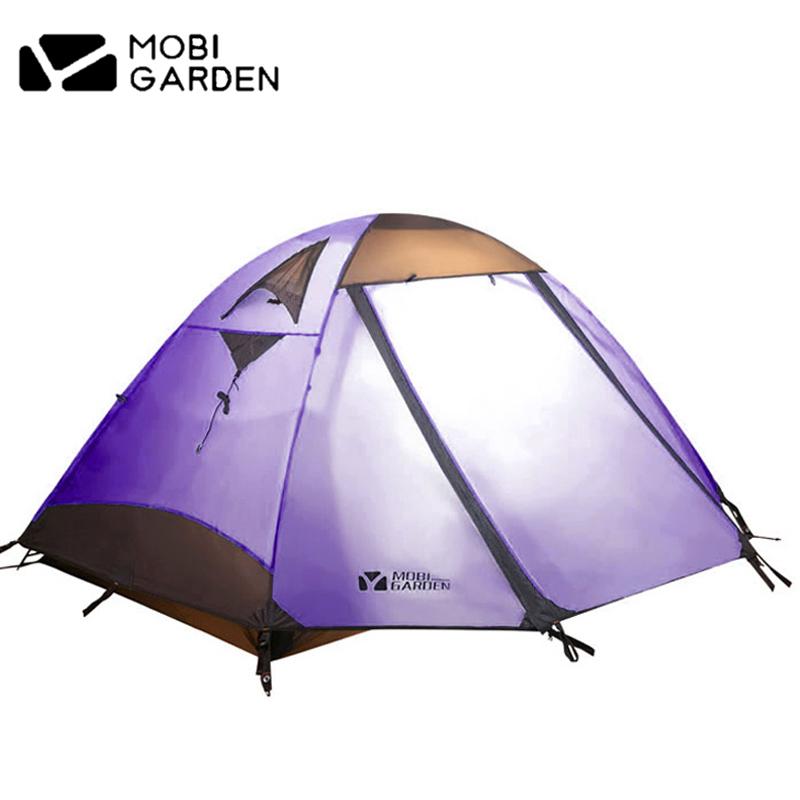 牧高笛戶外防雨露營帳篷雙人雙層透氣登山帳篷彩笛2Air 2人3-4人