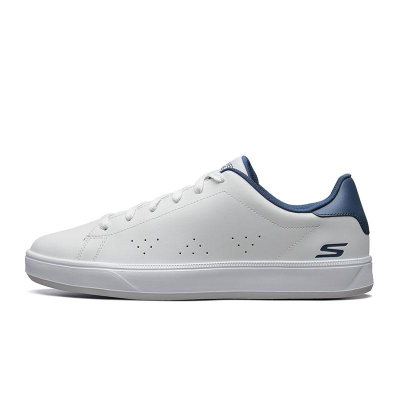 53841 质感皮革小白鞋 简约百搭轻质休闲板鞋 斯凯奇男鞋 skechers