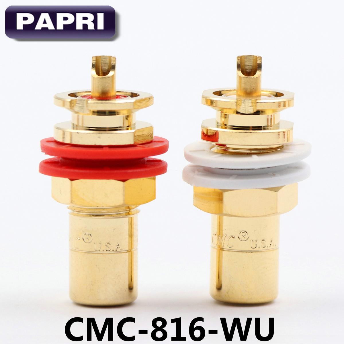 美國原裝進口CMC816-WU無氧銅鍍24K金DIY發燒RCA母插座音響功放蓮花插頭AV接頭母座插頭音箱膽機接線端子