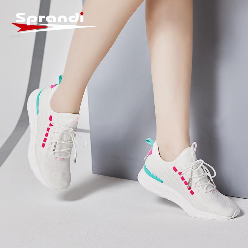 斯潘迪女鞋2019秋季新品综训鞋透气潮流运动鞋轻便跑步鞋小白鞋女