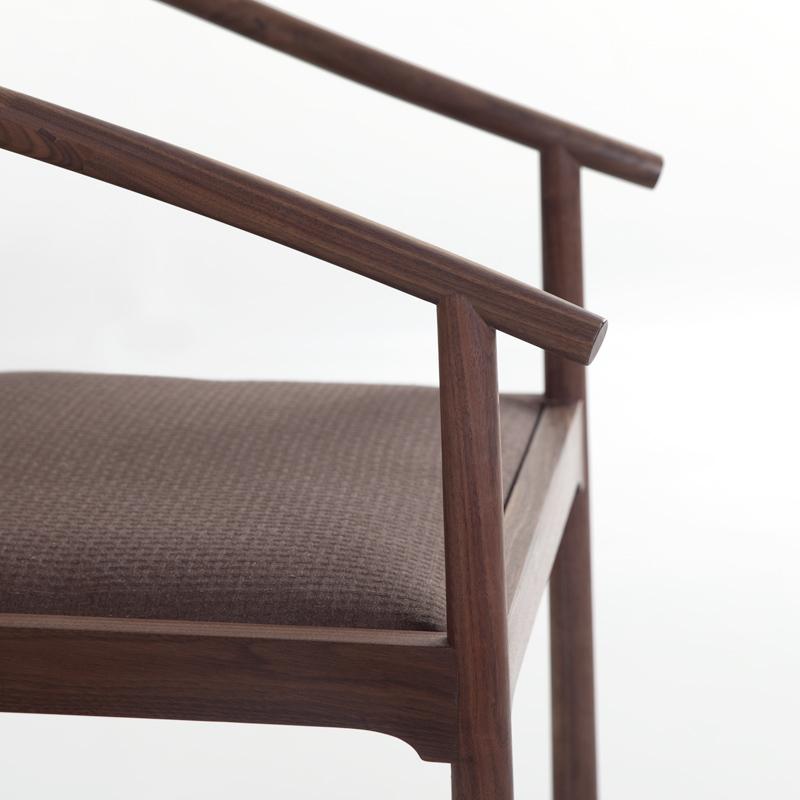三山一舍/知足圈椅 新中式实木黑胡桃木太师椅茶椅主人椅子三件套