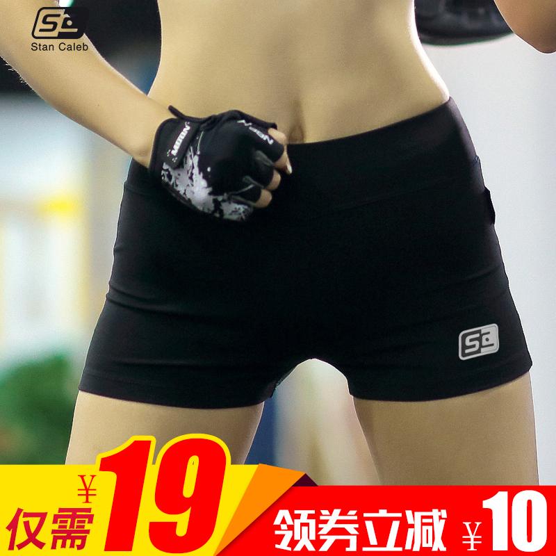 夏季健身房跑步速幹健身運動瑜伽 短褲女 帶反光透氣緊身提臀性感
