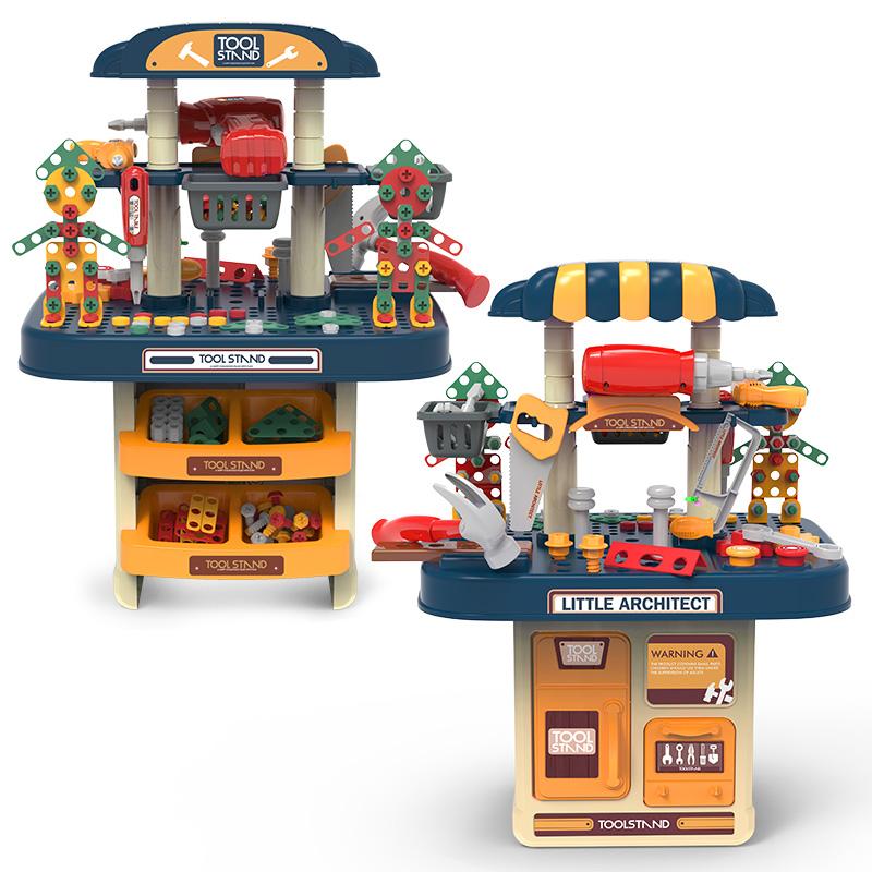 儿童修理工具箱玩具套装电动拧螺丝仿真过家家维修拆卸男孩益智【图2】