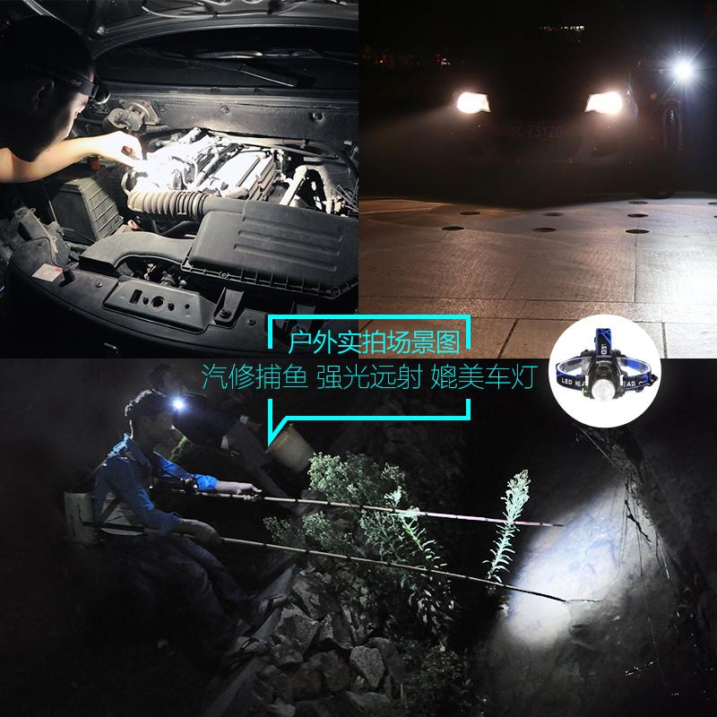 LED头灯强光充电感应变焦头戴式手电筒超亮夜钓鱼矿灯疝气小3000